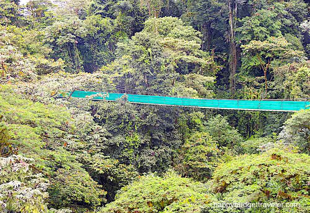A suspended bridge for sky walking in Arenal