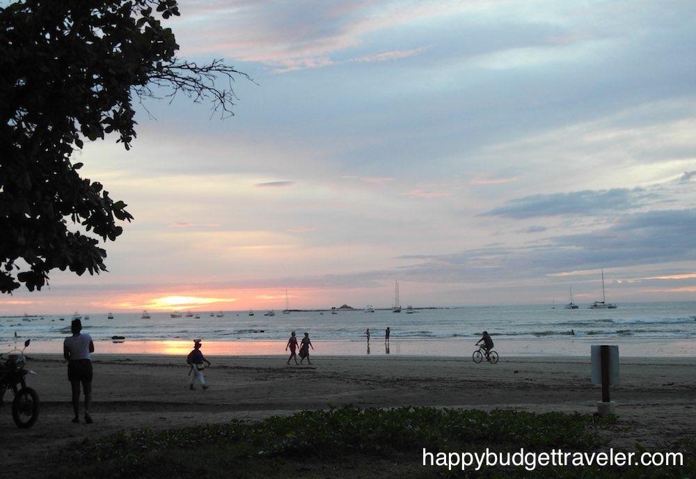View of sunset on Playa Flamingo