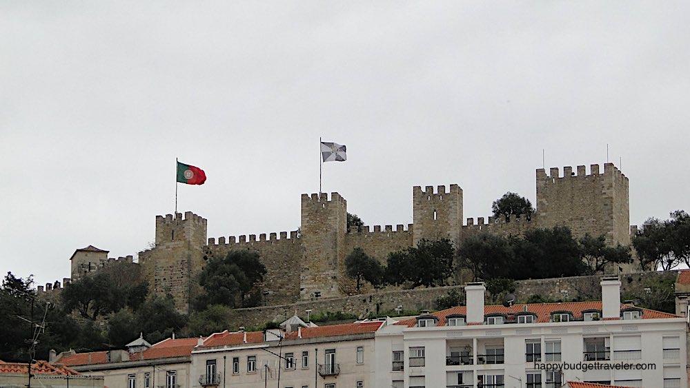 View of Moorish castle of St. George, Lisbon