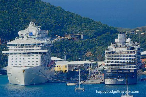 Two ships in port, St. Thomas USVI