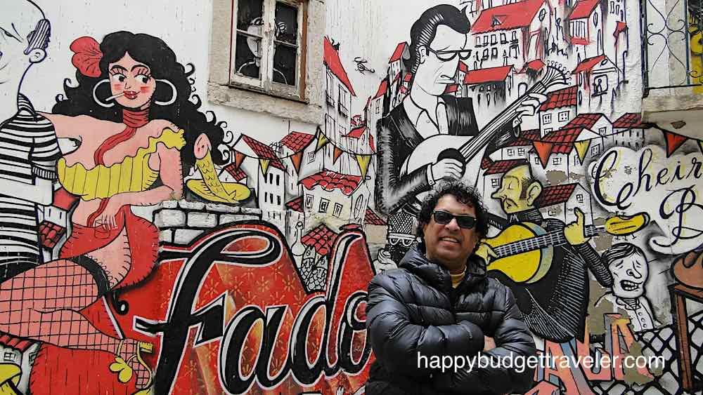 Mural of Fado in Lisbon