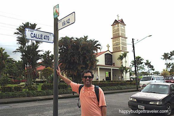 Main square of La fortuna town costa rica