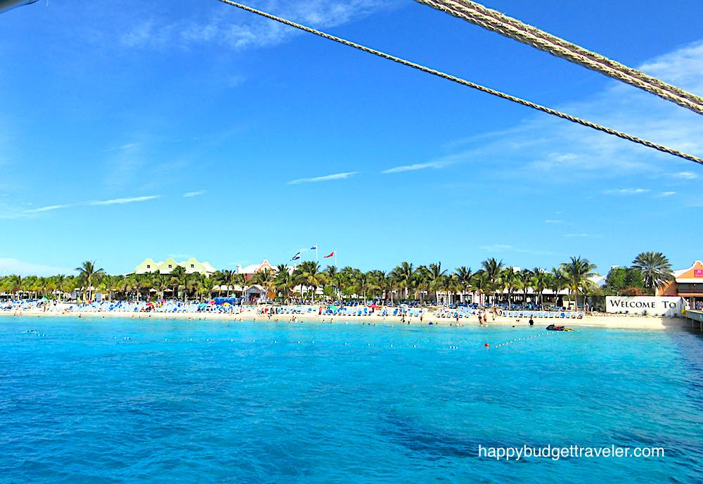 View of Grand Turk beach from the pier