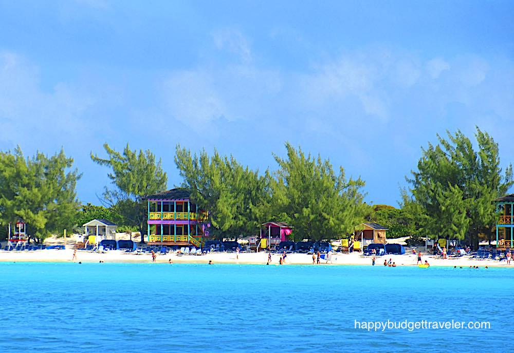 View of Half Moon Cay beach, Bahamas