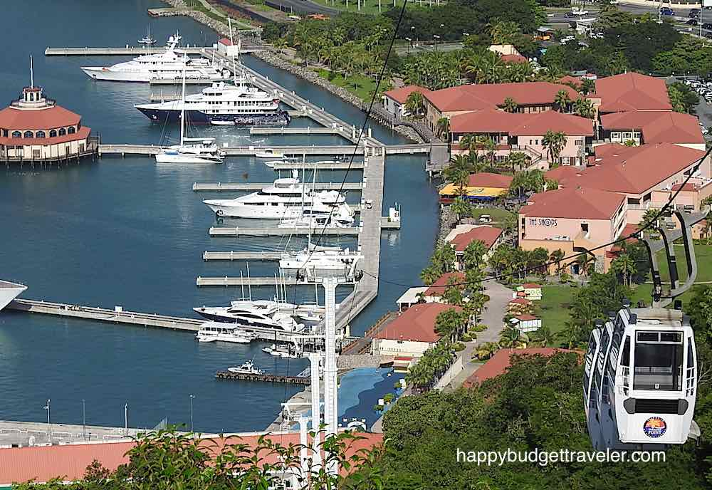 View from a cable car at Paradise point, St. Thomas, USVI