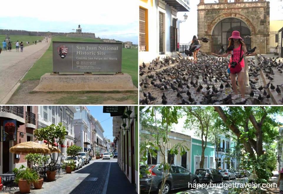 Four pictures of San Juan city