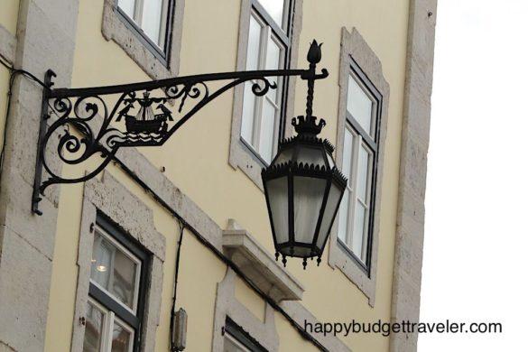 Classic street lamp, Lisbon