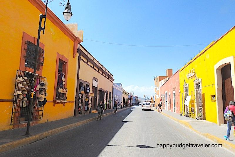A colorful Cholula street in Puebla-Mexico