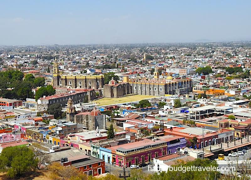 View of San Gabriel monastery in Cholula-Puebla, Mexico
