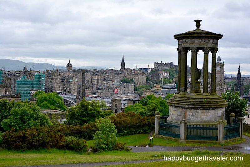 View of Edinburgh-Scotland from Calton hill.