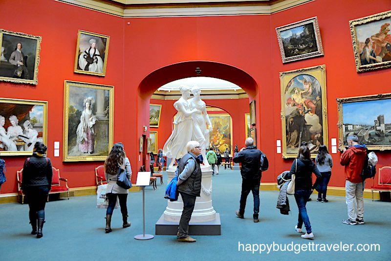 Partial interior of National art gallery of Scotland, Edinburgh.