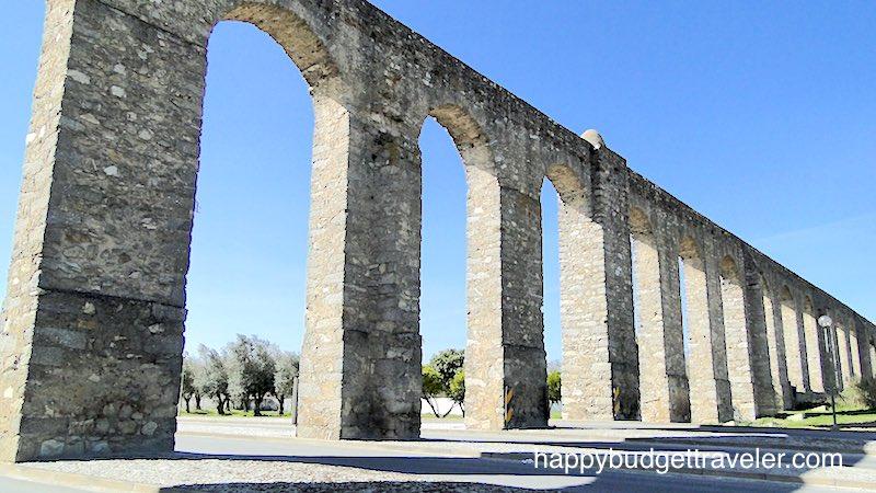 The Prata aqueduct in Évora-Portugal.
