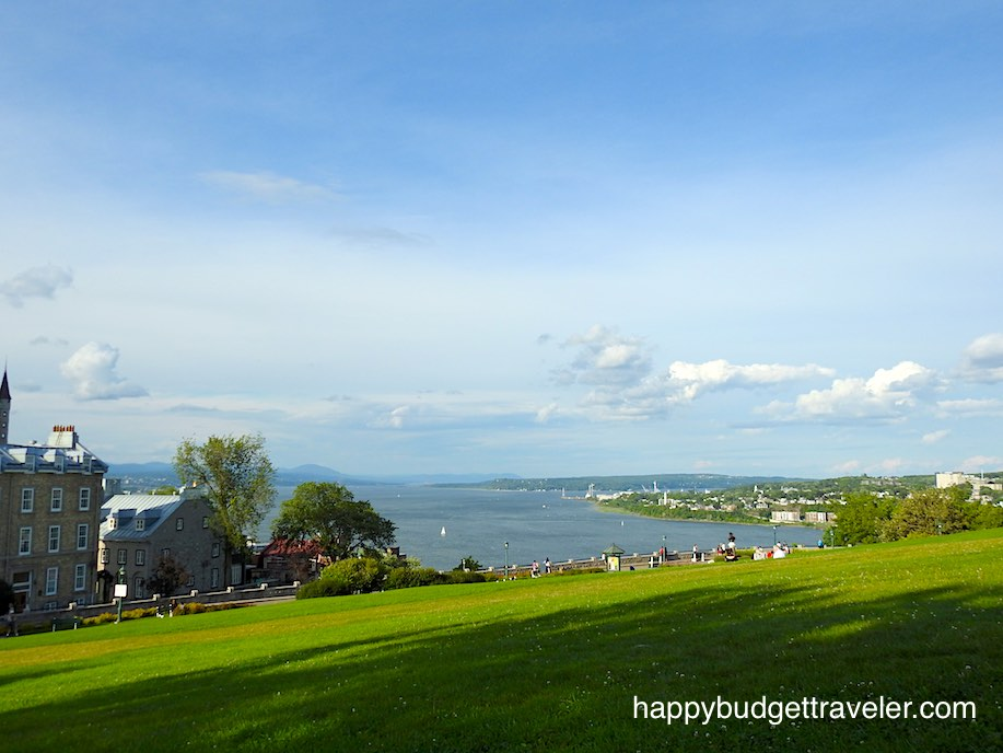 View from the hill of the Citadel in Quebec City.
