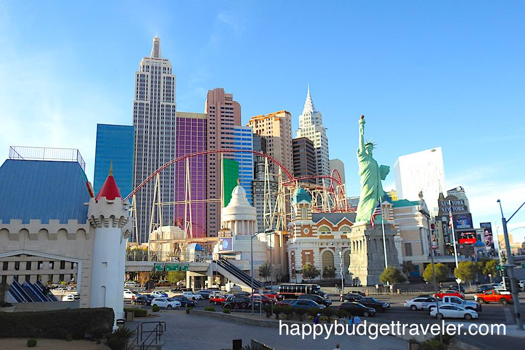 A cityscape of South Las Vegas Blvd. at West Tropicana Ave.