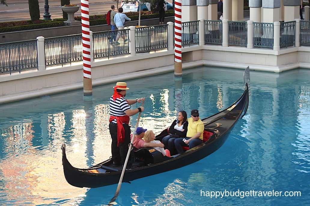 A Gondola ride at The Venetian, Las Vegas.