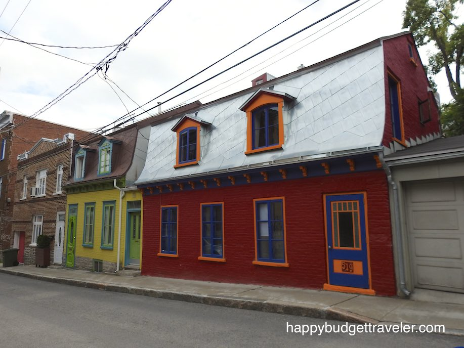 Colorful homes in Quebec City