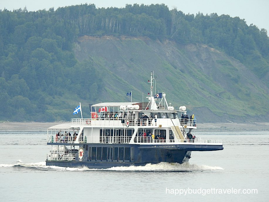 Whale watching boat, St. Catherine bay-Quebec.