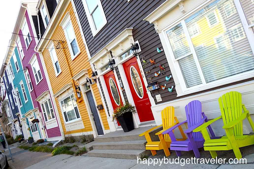 Colorful Jellybean Row Houses-St. John's, Newfoundland.