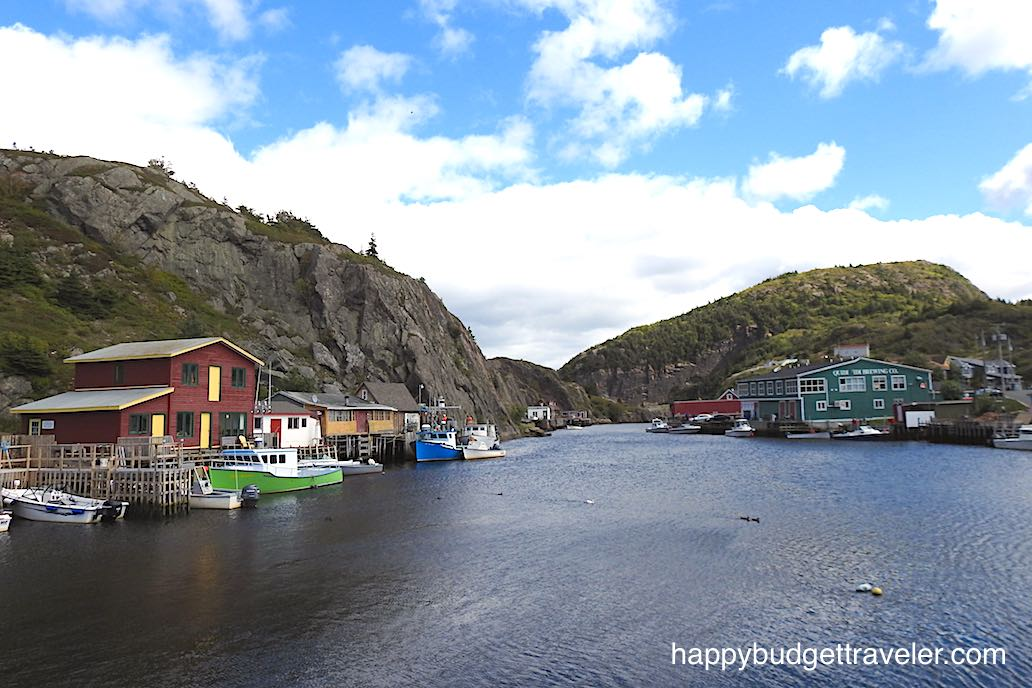 View of Quidi Vidi Harbor and Brewing Company-St. John's, Newfoundland.