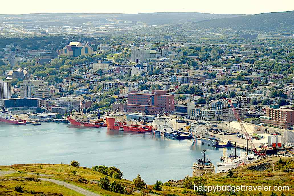A view of St. John's Harbor and City from Signal Hill.