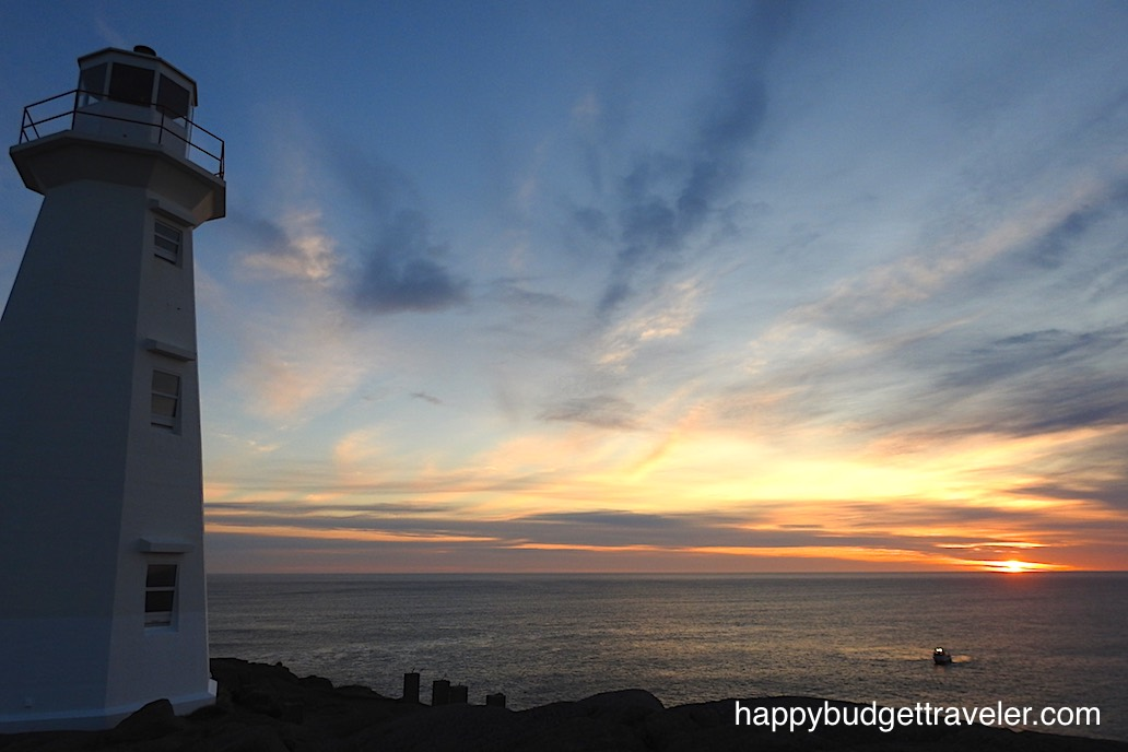 Sunrise at Cape Spear, Newfoundland.