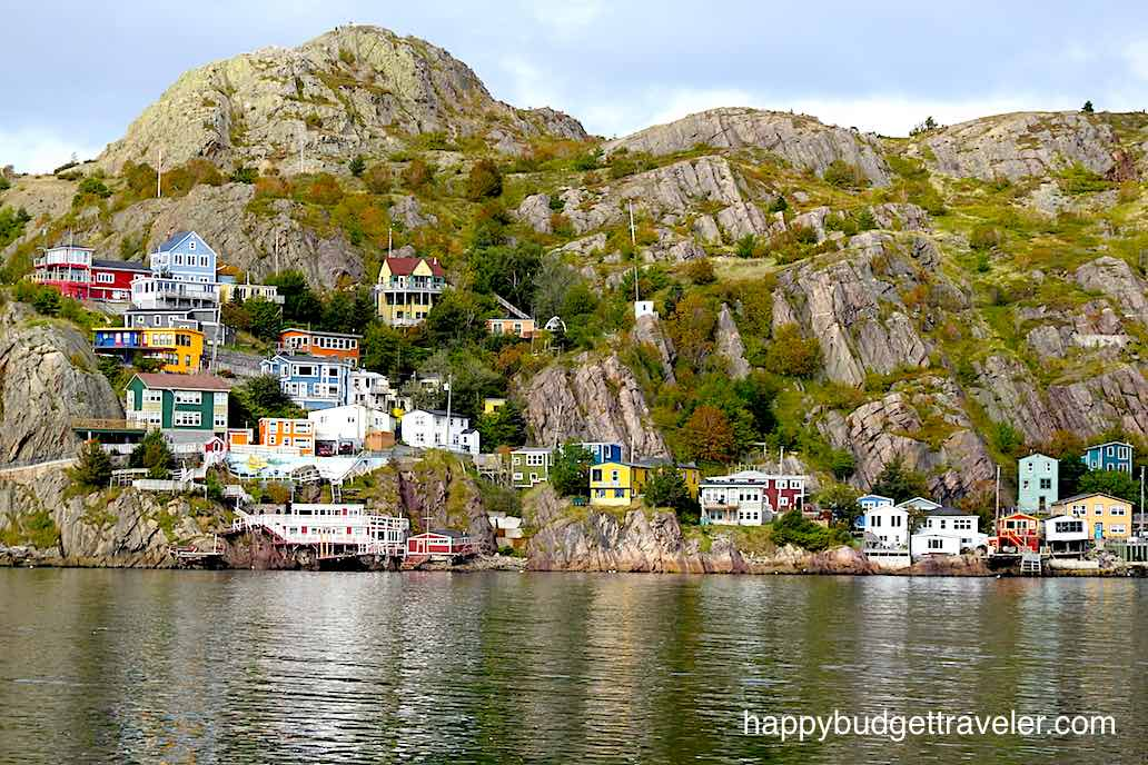 A view of the hilly village called The Battery-St. John's, Newfoundland.