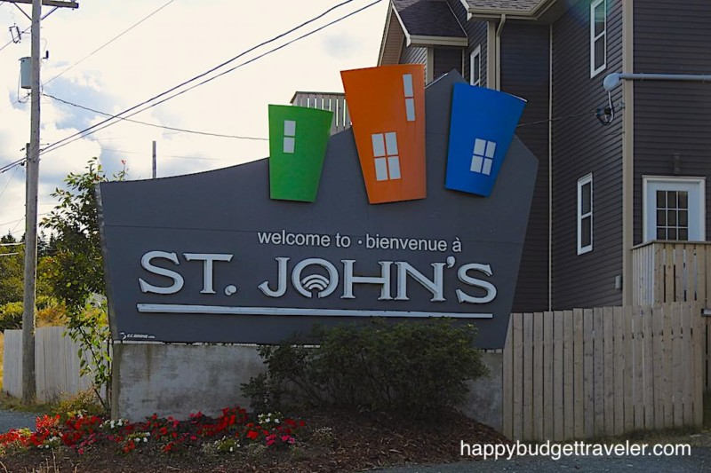 Picture of signboard, Welcome to Saint John's!