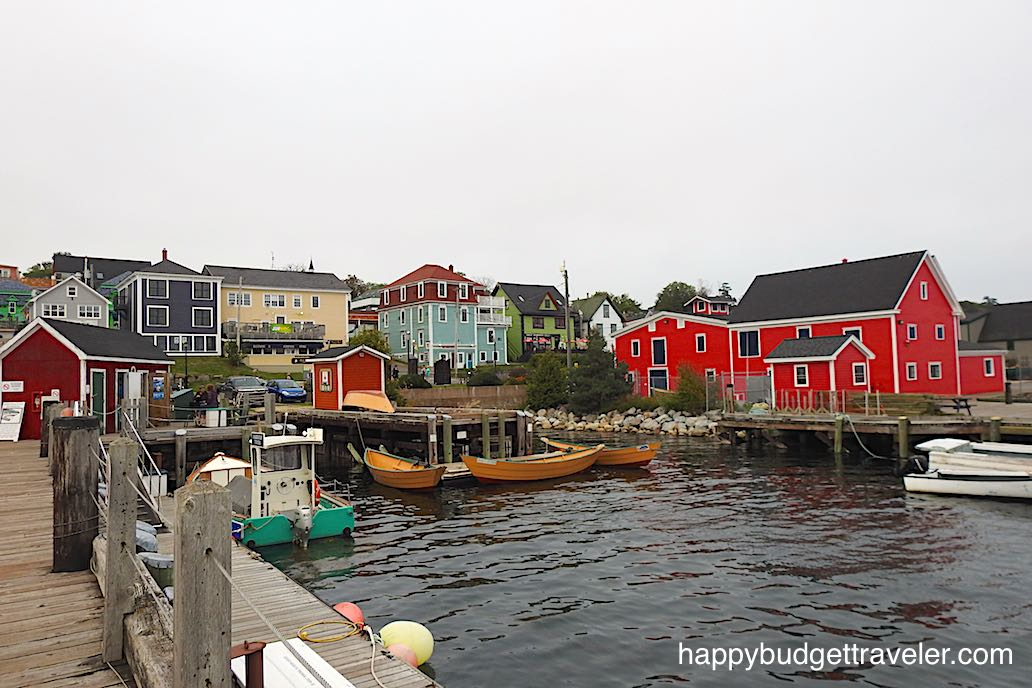 Part of Lunenburg Harbor-Nova Scotia.