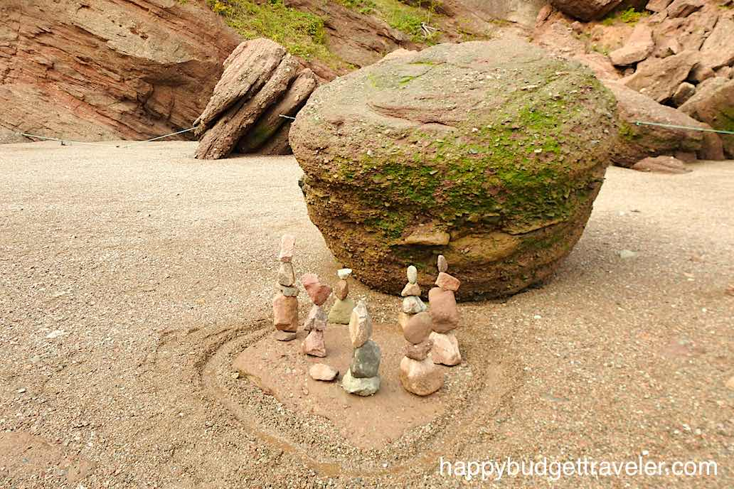 A picture of balanced rocks at Hopewell Rocks, Bay of Fundy-New Brunswick.