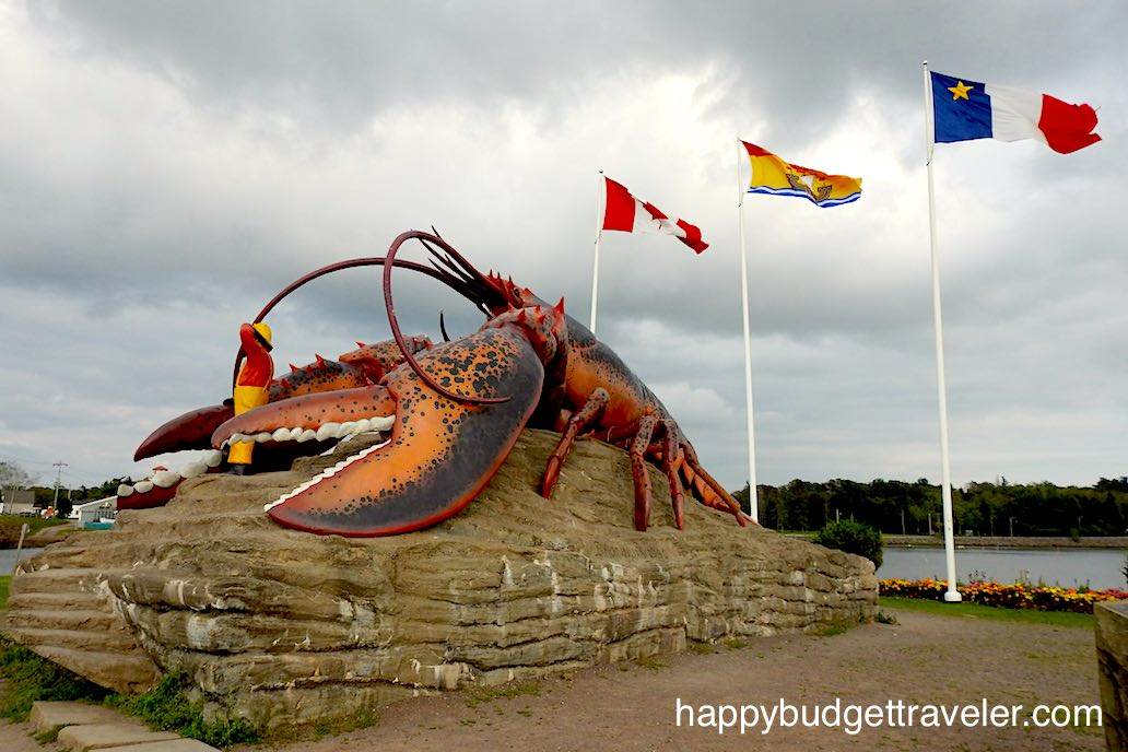 Statue of a Giant Lobster in Shediac, New Brunswick.