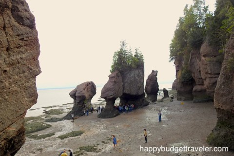 Hopewell Rocks, Bay of Fundy, Extreme High and Low Tides, Giant Lobster