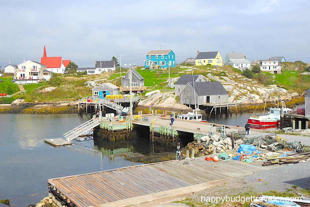 A colorful picture of Peggy's Cove-Nova Scotia.