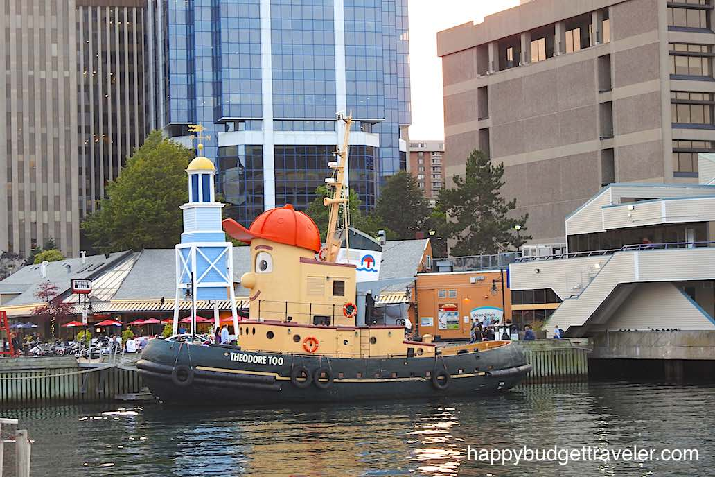 Theodore the Tugboat in Halifax harbor.