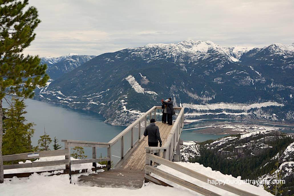 Stawamus Chief mountain overlook viewing platform, Squamish