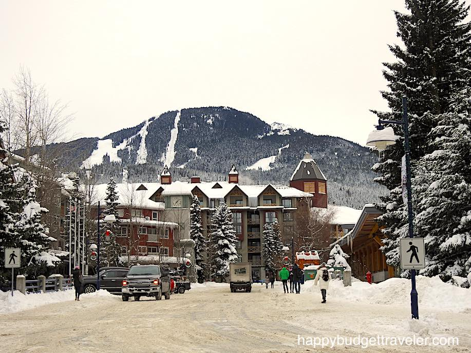 A view of Main Street in Village north, Whistler