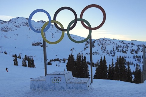 Olympic Rings at Whistler Peak, Canada