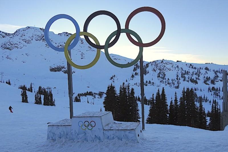 Olympic Rings at Whistler Peak, Canada