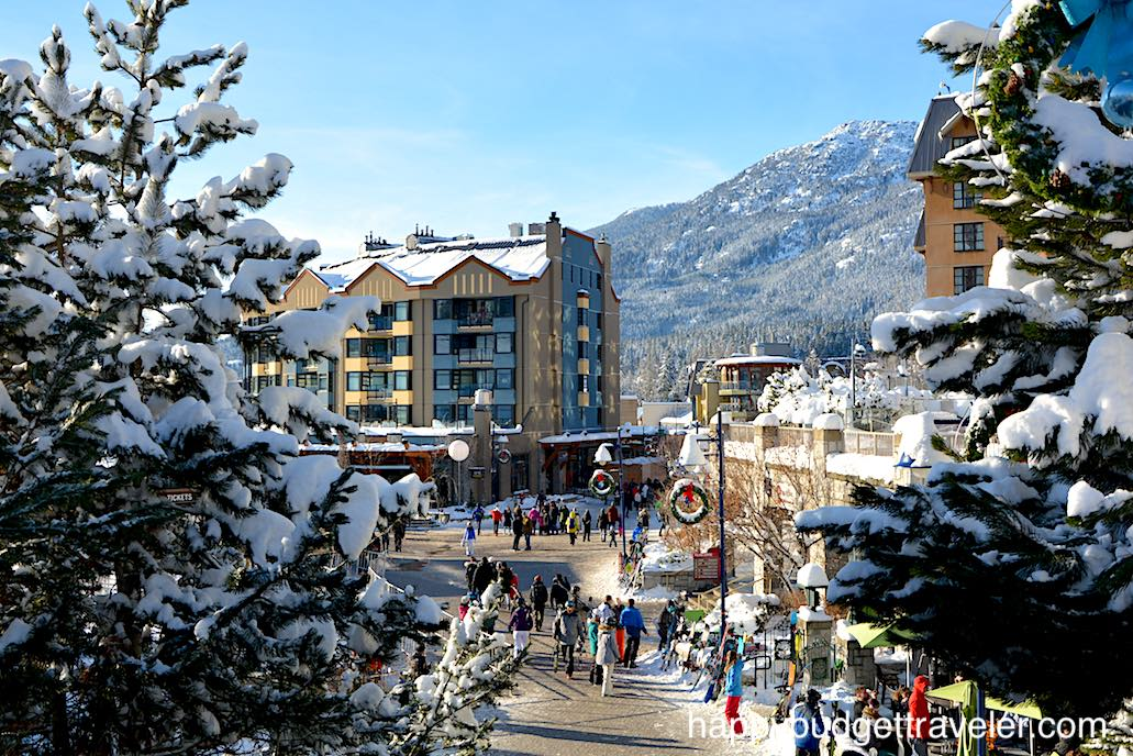 A view of Village Square, Whistler