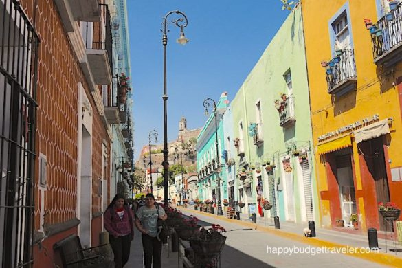 Picture of a street in Atlixco, Puebla-Mexico