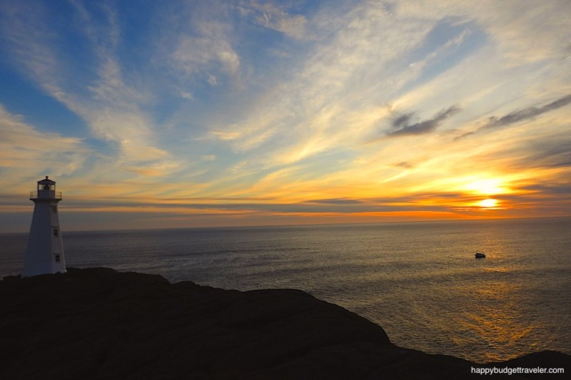 Picture of a spectacular sunrise at Cape Spear, Newfoundland