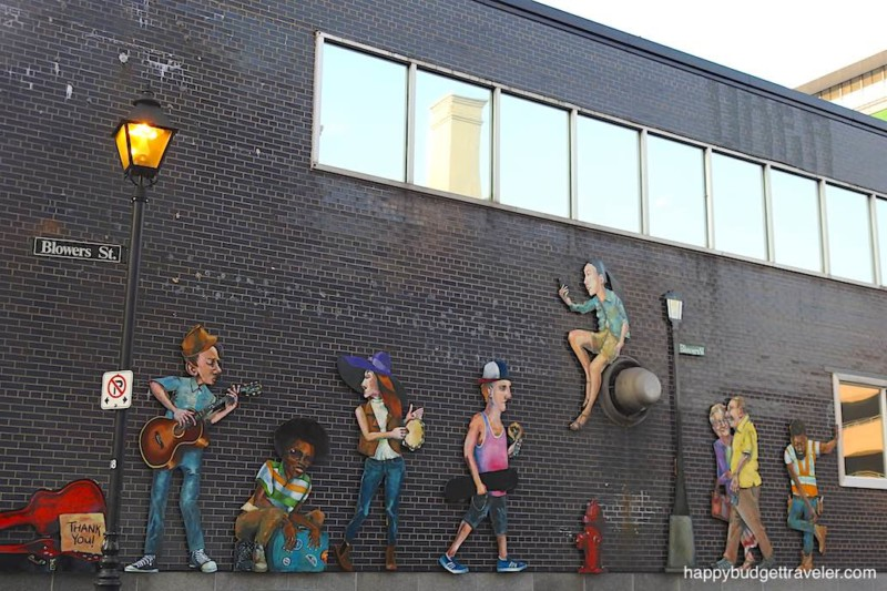 Picture of a mural in downtown Halifax, Nova Scotia