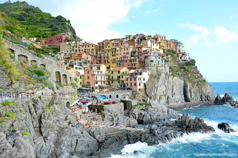 Picture of the village dock and cliffside houses at Manarola-Cinque Terre, Italy